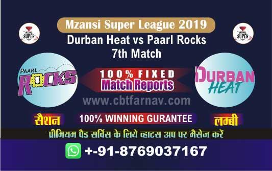 Paarl vs Durban 7th Match Prediction Mzansi 2019 Cricket Betting Tips