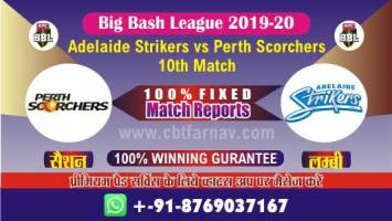BBL T20 Perth vs Adelaide 10th Match Betting Tips Prediction Reports