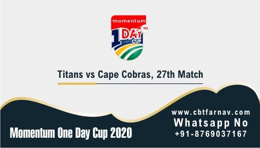 Momentum ODI Match Prediction COB vs TIT 27th Match Tips Toss Fancy