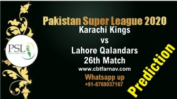 PSL T20 Match Prediction LAH vs KAR 26th Match Tips Toss Fancy Lambi