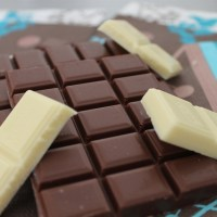 Muffin chocolat au lait, cœur de chocolat blanc