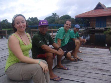 Lorena, Seu Franciso, Danilo e (?)
