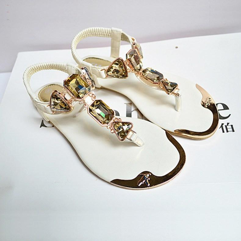 3437848290 1657557736 Woman Sandals 2019 fashion high quality Rhinestone women flip flops shoes ladies casual summer beach shoes