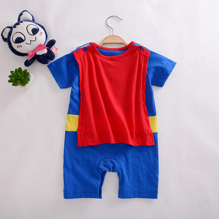 3070354212 9906558 Baby Boy Romper Superman Long Sleeve with Smock Halloween Christmas Costume Gift Boys Rompers Spring Autumn Clothing Free Ship