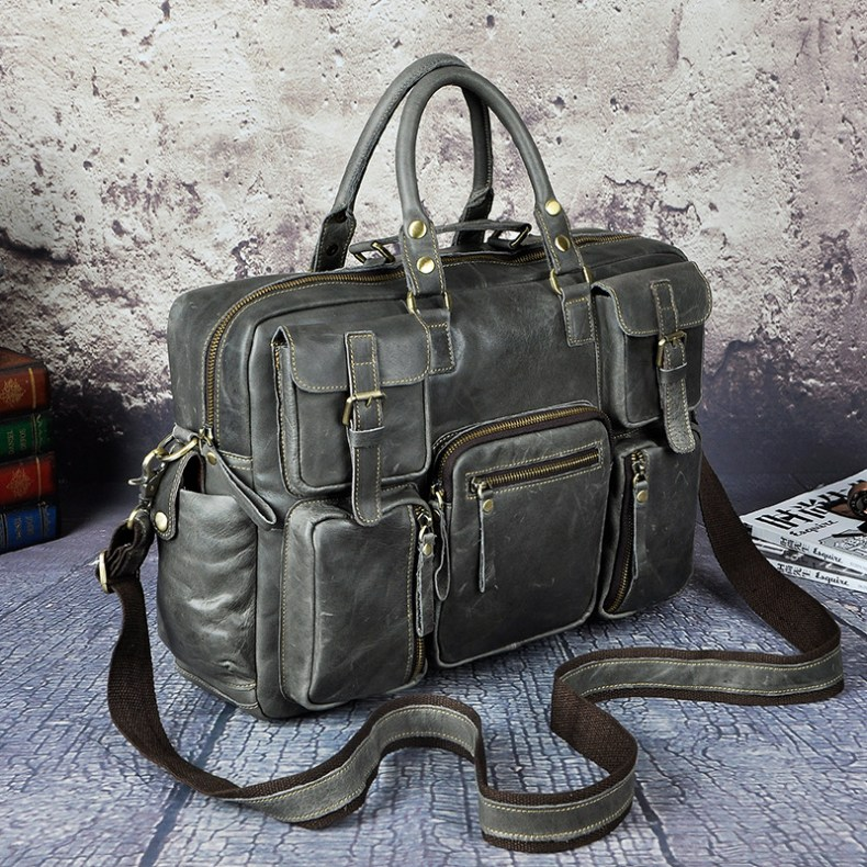 6993111821 2068518898 Original leather Men Fashion Handbag Business Briefcase Commercia Document Laptop Case Design Male Attache Portfolio Bag 3061-bu