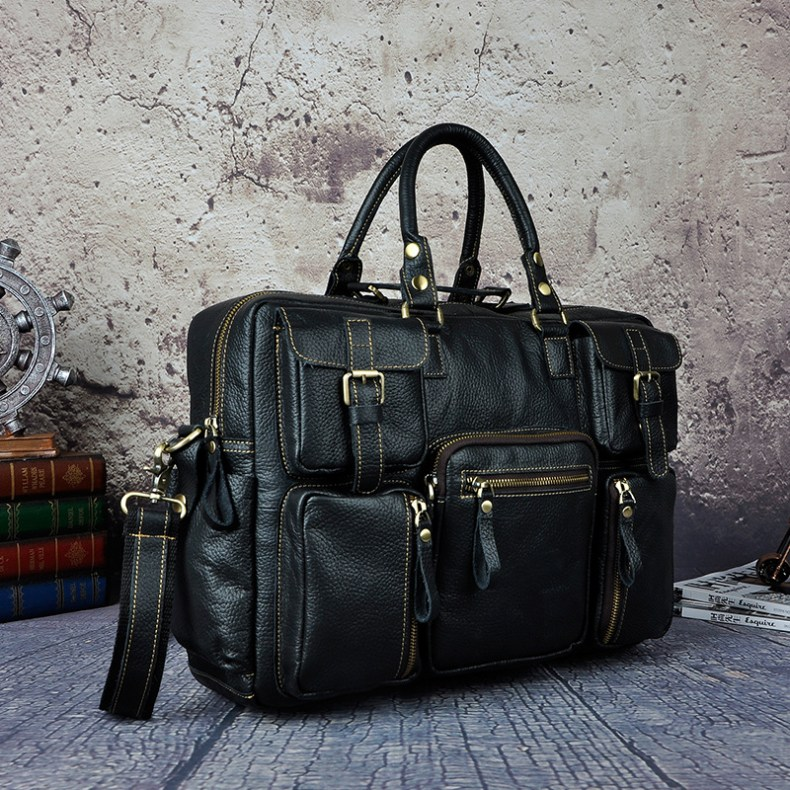 6993069871 2068518898 Original leather Men Fashion Handbag Business Briefcase Commercia Document Laptop Case Design Male Attache Portfolio Bag 3061-bu