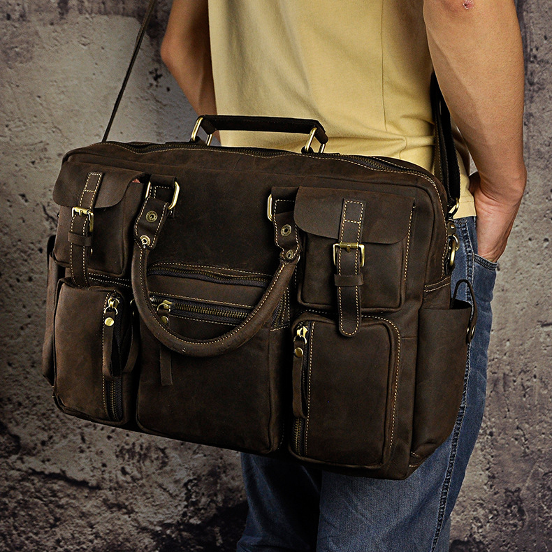 4226835128 2068518898 Original leather Men Fashion Handbag Business Briefcase Commercia Document Laptop Case Design Male Attache Portfolio Bag 3061-bu