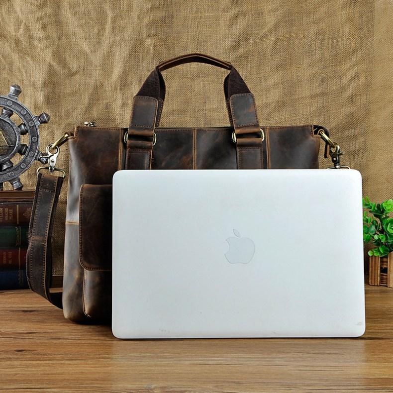 "8519861000 2068518898 Men Genuine Leather Office Maletas Business Briefcase 15.6"" Laptop Case Attache Portfolio Bag Maletin Messenger Bag B260"