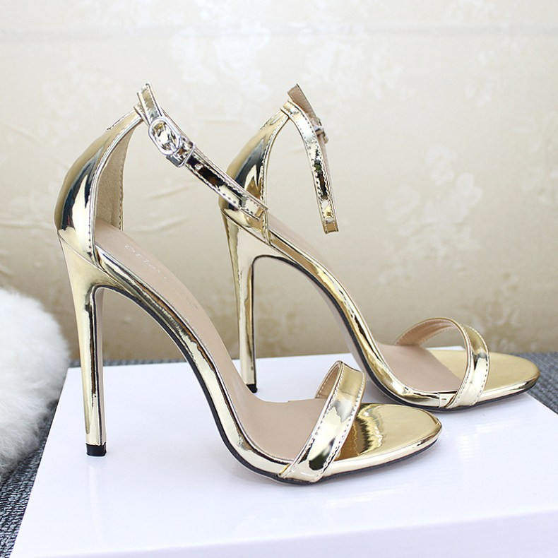 9072692180 855635146 LTARTA Shoes women's Shoes Sandals With Buckle High Heels Gold And Silver Wedding Shoes Large Size 43 ZL-300-7