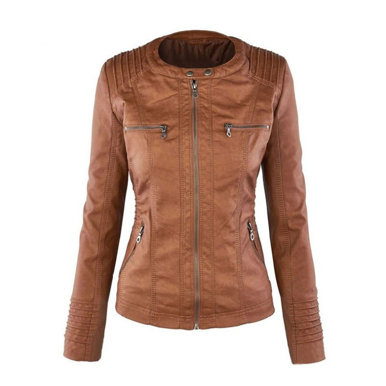 9322948003 1323825941 Winter Faux Leather Jacket Women Casual Basic Coats Plus Ladies Basic Jackets European size