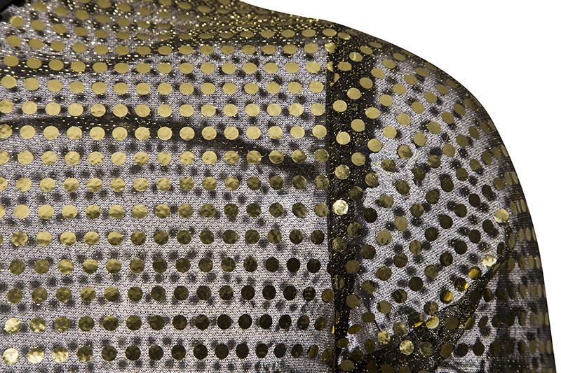 9114303605 1100343991 European Fashion Men's Plaid Shirts Autumn And Winter Glitter Big Body Point Scale Night Shop Design Men's Long Sleeve Shirt