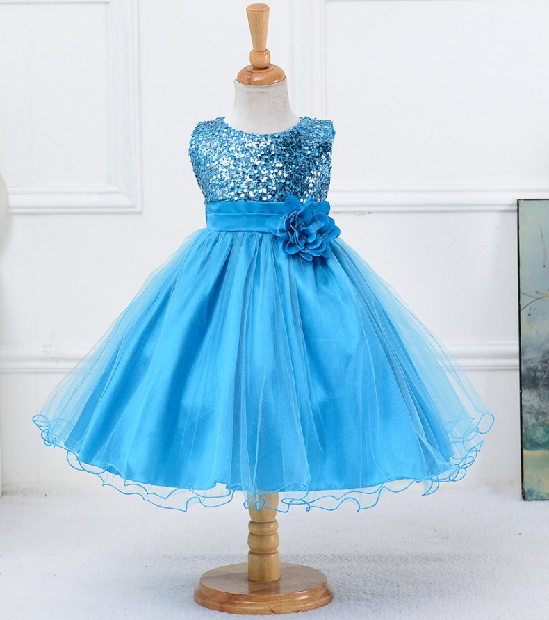 9358529535 1319078801 1-14 yrs teenagers Girls Dress Wedding Party Princess Christmas Dresse for girl Party Costume Kids Cotton Party girls Clothing