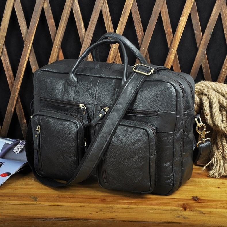 9202891355 2068518898 Men Oil Waxy Leather Antique Design Business Travel Briefcase Laptop Bag Fashion Attache Messenger Bag Tote Portfolio Male k1013