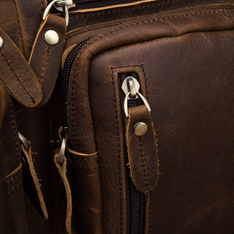 9705743877 2068518898 Men Oil Waxy Leather Antique Design Business Travel Briefcase Laptop Bag Fashion Attache Messenger Bag Tote Portfolio Male k1013