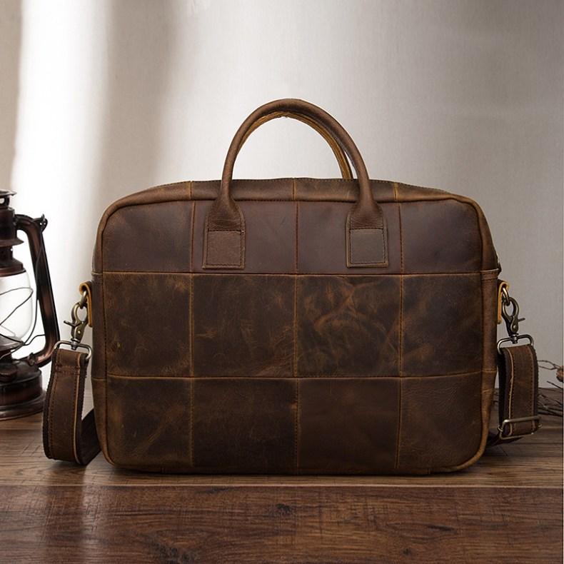 9705791048 2068518898 Men Oil Waxy Leather Antique Design Business Travel Briefcase Laptop Bag Fashion Attache Messenger Bag Tote Portfolio Male k1013