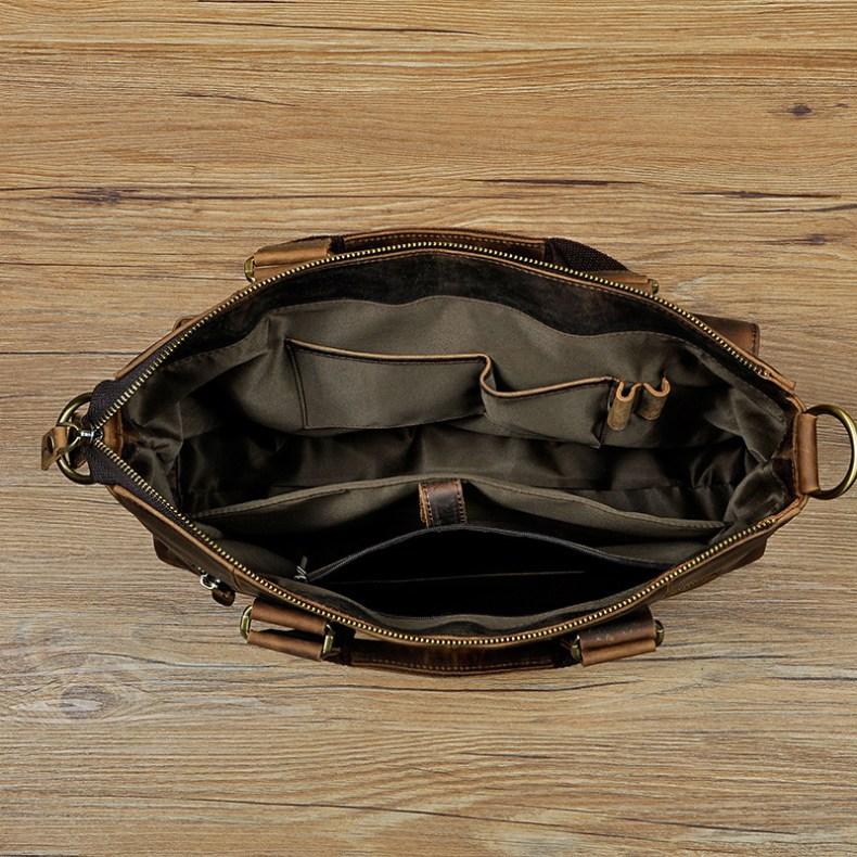 "8500839139 2068518898 Men Genuine Leather Office Maletas Business Briefcase 15.6"" Laptop Case Attache Portfolio Bag Maletin Messenger Bag B260"