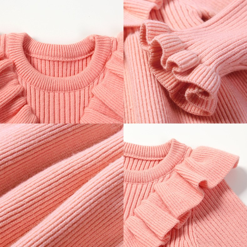 12250630497 303410146 Girls Knitted Dress 2019 autumn winter Clothes Lattice Kids Toddler baby dress for girl princess Cotton warm Christmas Dresses