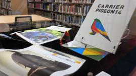 Projects on display in the art library