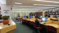 Computer area of the library
