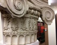 Column decoration in the art library