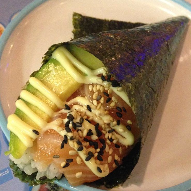 Image result for yo sushi hand rolls salmon