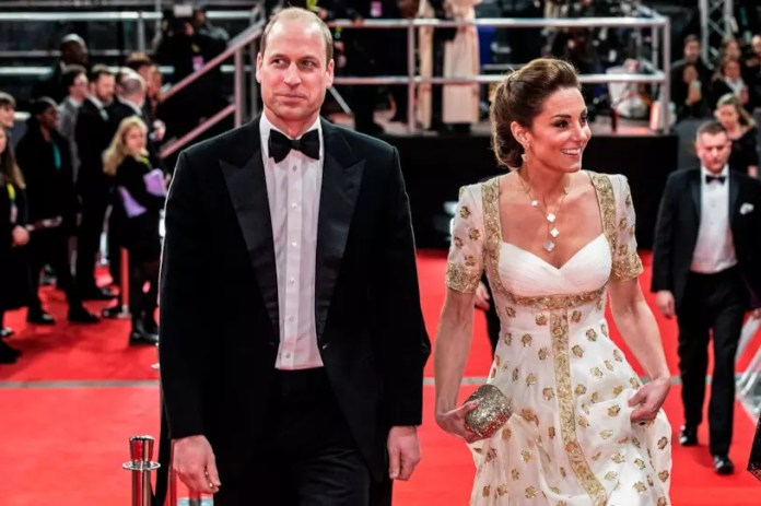 William and Kate on the red carpet