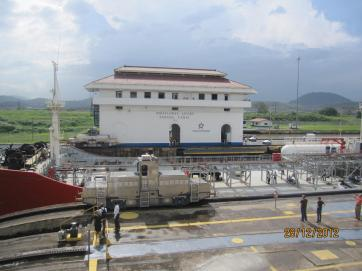 Ship passage through the Panama Canal