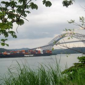 Puente de las Americas, inaugurated in 1962 and until 2004, the only road crossing of the Panama Canal between South and North America