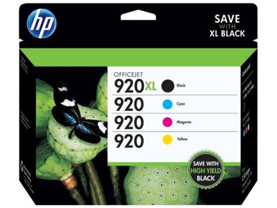 Hp 920 Blackcyanmagentayellow Ink Cartridges Pack Of 4