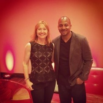 Backstage after my keynote at the H3 Conference with Wayne Sutton.