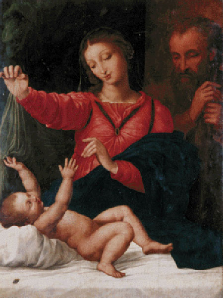 Рафаэль Санти. Святое семейство. 1508 г.