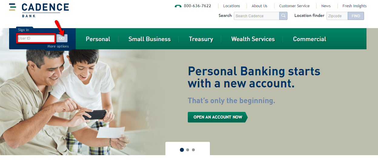 Cadence Banking Online Personal Banking
