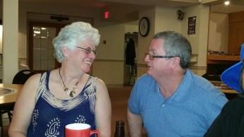 Marilyn and Gerrt talking