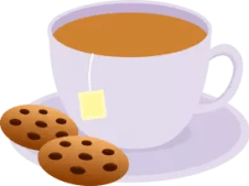 Picture of tea and cookies