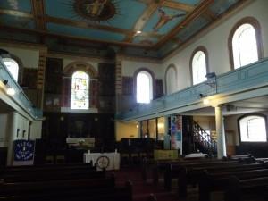 Interior of St. John the Baptist church