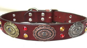 CCC Western Leather Dog Collars - Hildago