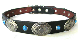 CCC Western Leather Dog Collars - Scallop Edge