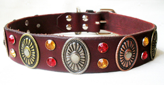 CCC Western Leather Dog Collars - Hidalgo Oval