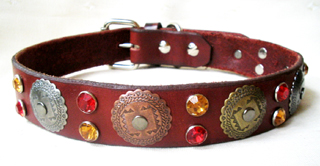 Leather Dog Collars by CCC - Hidalgo Designer Dog Collection SW 1.25