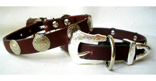 CCC Western Leather Dog Collars - Rodeo Rover Leather