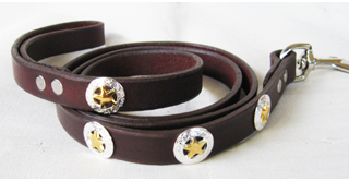 CCC Western Leather Dog Collars - Leather Dog Leash