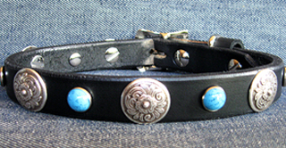 Leather Dog Collars at CCC - Zorro Designer Collection 75