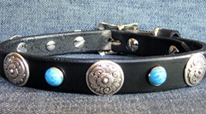 CCC Western Leather Dog Collars - Zorro