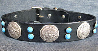 Leather Dog Collars at CCC - Zorro Designer Collection 125