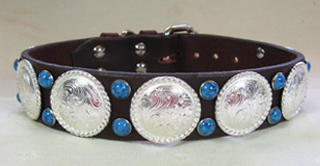 CCC Western Leather Dog Collars - Rodeo Trophy