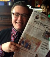 Regular writer Gianluca Russo shows his cover story in the Times Union.