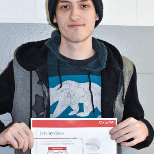 CCCTC Adult Student, Jeremy Glace, Earns CompTIA A+ Certification
