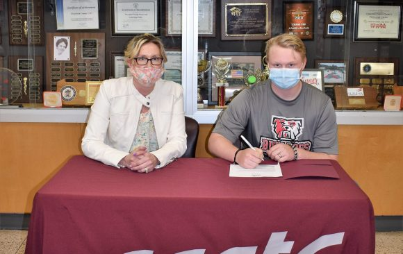 CCCTC Senior, David Weaver, Signs Letter of Intent during Career & Technical Letter of Intent Virtual Signing Day