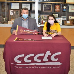 CCCTC Senior, Emily Smith, Signs Letter of Intent during Career & Technical Letter of Intent Virtual Signing Day