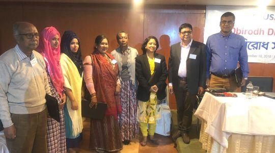 Director of CCD Bangladesh G M Mourtoza along with Ora Musu Clemens
